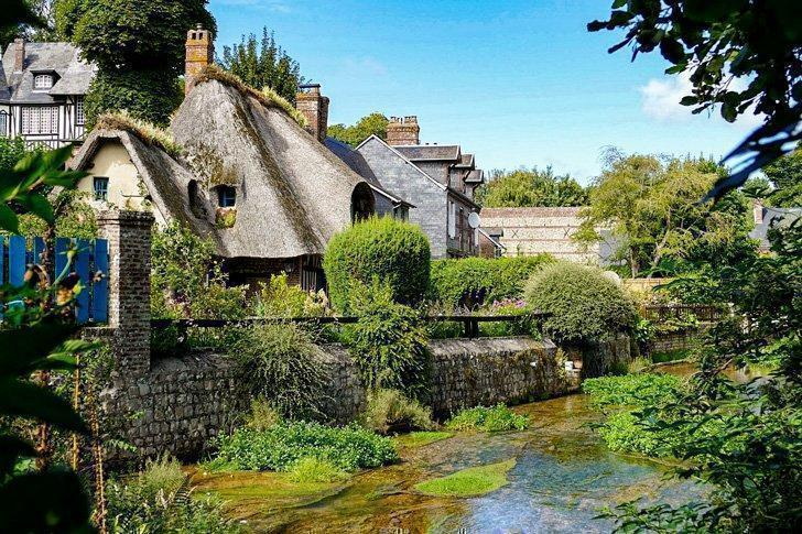 Veules-les-Roses is a beautiful place to see in Normandy, France