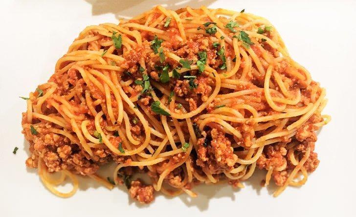 Spaghetti Bolognese at La Barchetta restaurant.