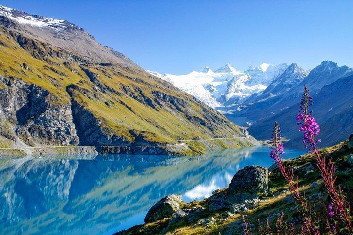 The stunning Lac de Moiry in the French speaking part of Switzerland's Alps.