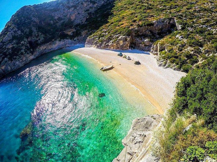 Karaburun-Sazan Marine Park is one of Albania's National Parks.