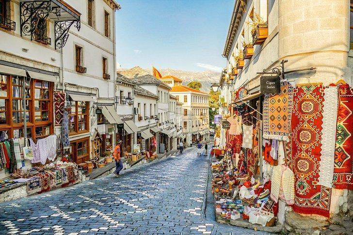 Don't miss the Ottoman bazaar when strolling the streets of Gjirokastra, Albania.