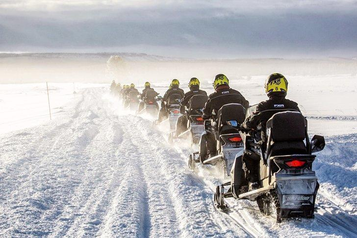 Riding snowmobiles is one of the fun things to do in Svalbard, Norway.