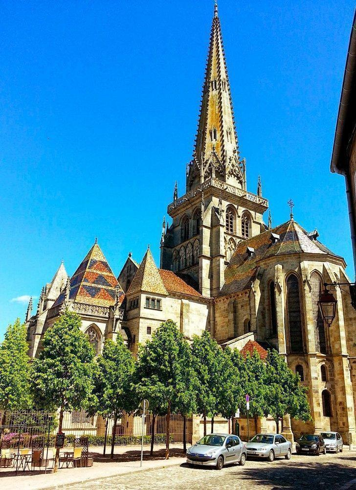 Cathedrale Saint-Lazare d'Autun or Autun Cathedral is one of the many places to see in Burgundy, France