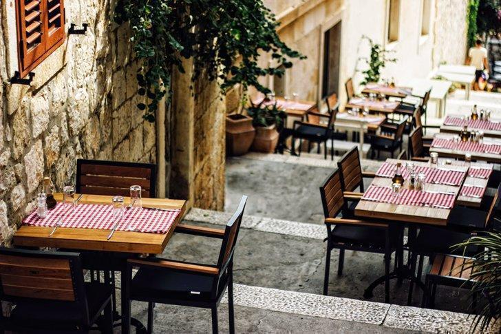 Picture yourself at one of the sidewalk restaurants in Split with your favourite person.