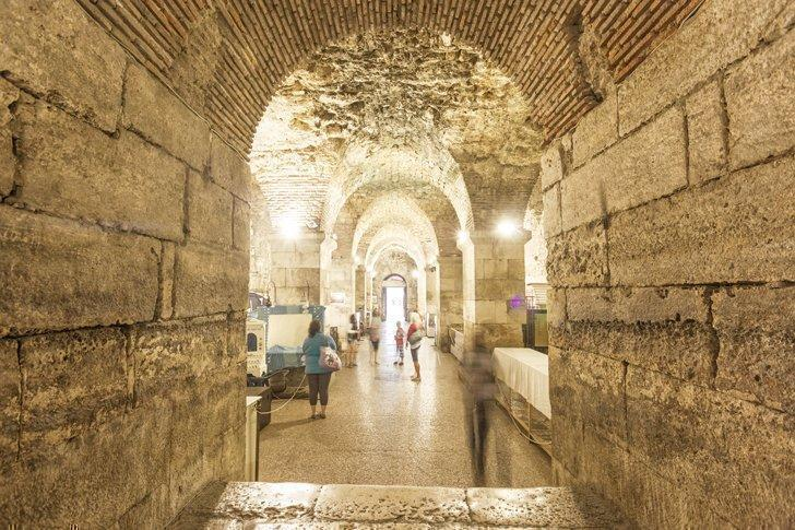 Tour the cellars of Diocletian's Palace for some retail therapy with a taste of history.