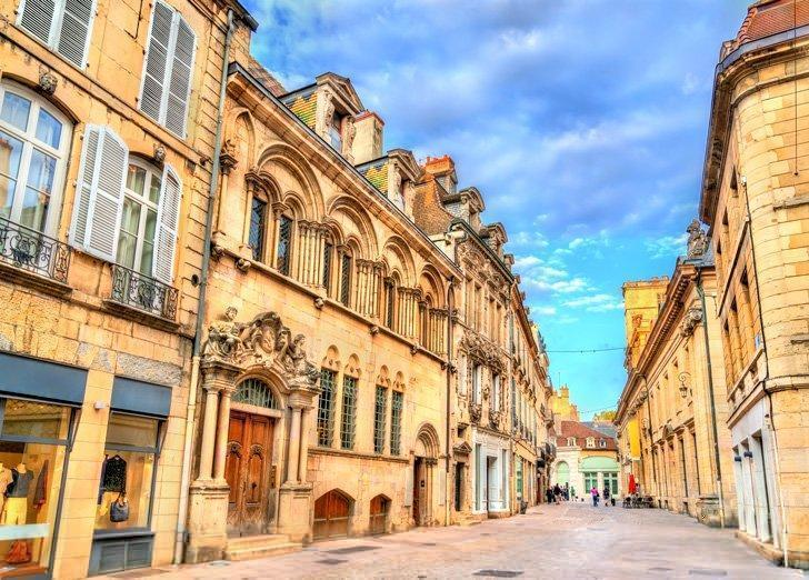 Explore beautiful streets like Rue des Forges in Old Town Dijon, France.