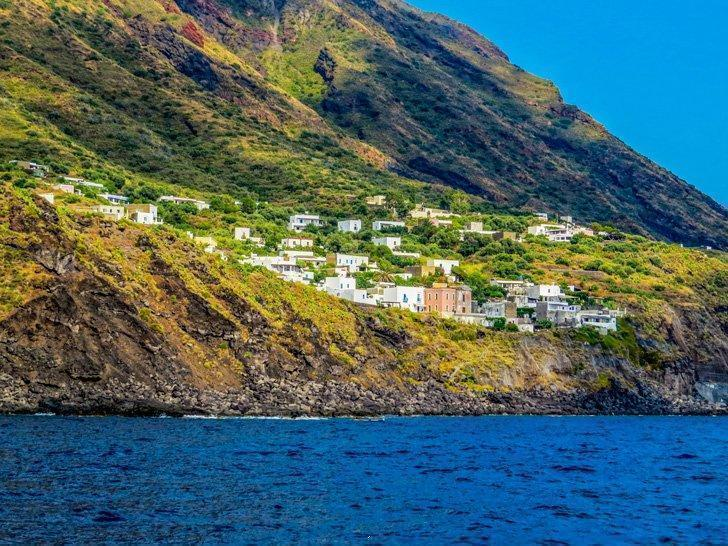 Stromboli, Italy is home to one of Europe's most active volcanoes.