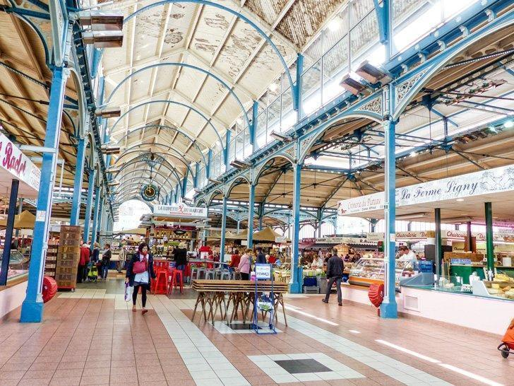 Foodies shouldn't miss a trip to Dijon's covered market, Les Halles Centrales de Dijon.