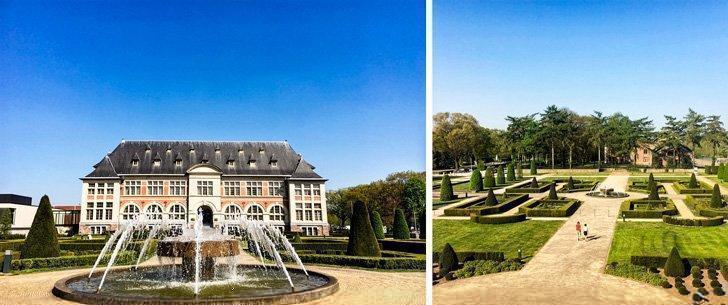The handsome Hotel Terhills Maasmechelen with its stunningly manicured grounds.