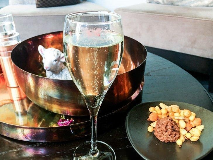 Champagne to welcome the guests of the Terhills Hotel in Maasmechelen, Belgium