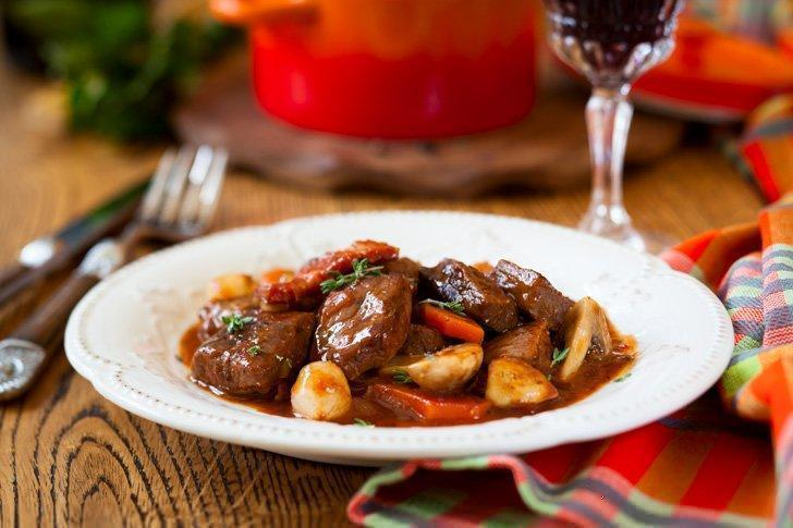 Don't miss the chance to eat traditional Boeuf Bourguignon while enjoying the restaurants in Dijon, France.