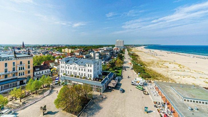The Warnemünde lighthouse provides a great view of the town and one of the most beautiful beaches in Germany.