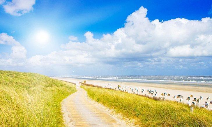 The island of Sylt has some of the best beaches in Germany on the North Sea