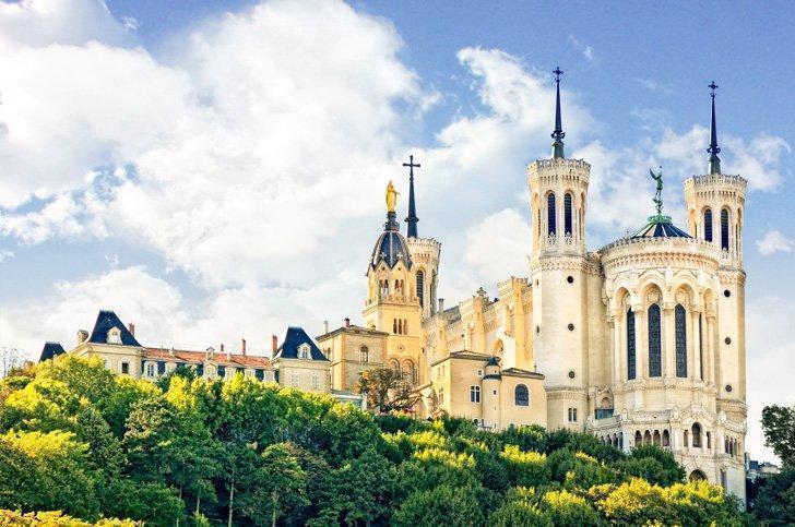 Lyon France Landmarks Basilique Notre-Dame de Fourviere