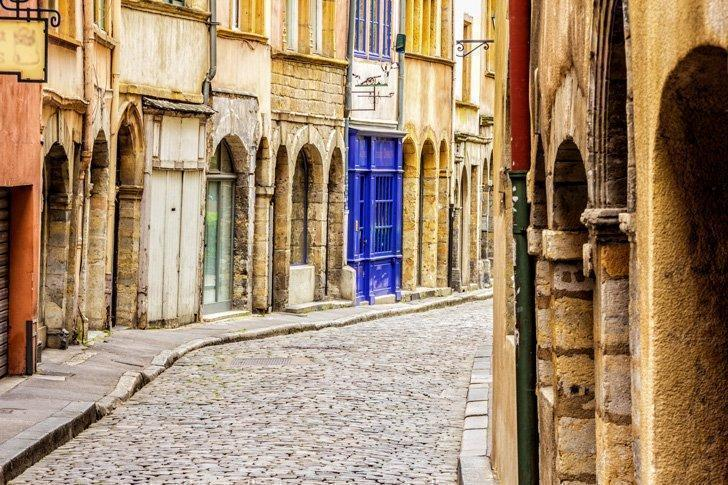 Wander the charming streets of Vieux Lyon.