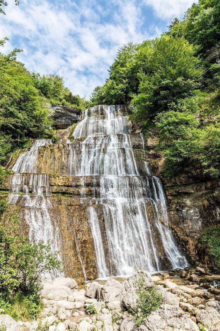 Don't miss the stunning Cascade du Hérisson waterfalls in Jura France