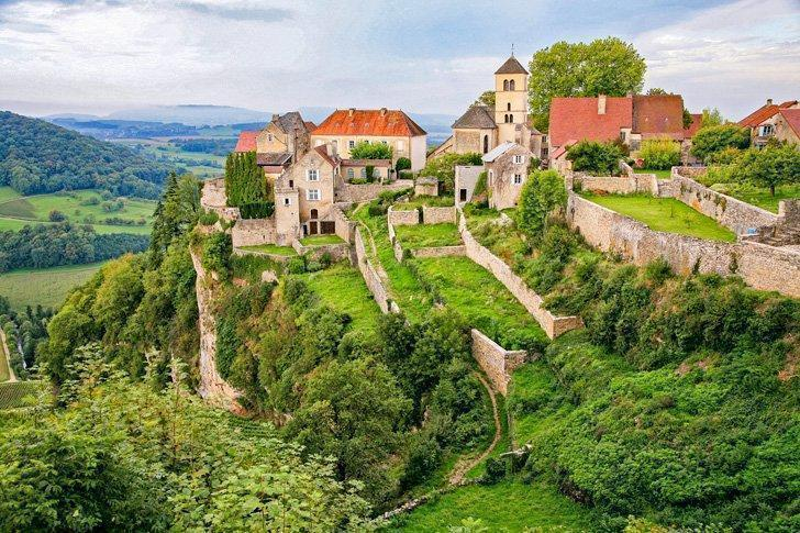 Château-Chalon is one of the most beautiful villages in France located in the Jura department.