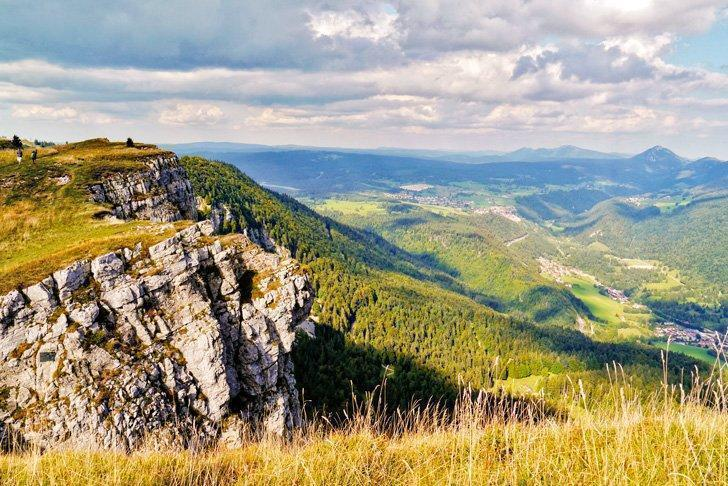 Hiking in the Jura Mountains is an invigorating way to spend an active holiday.