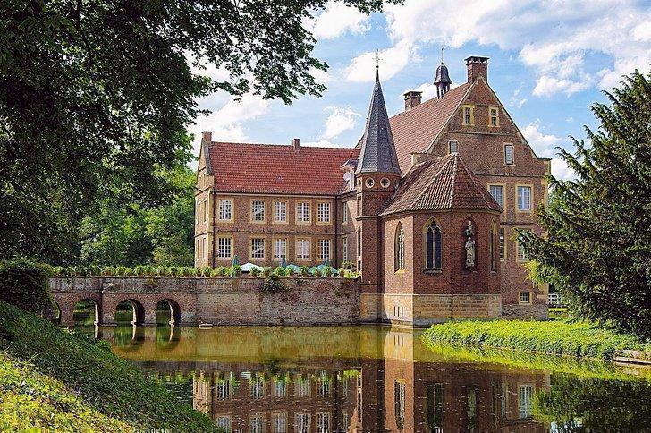Burg Hülshoff is a beautiful castle near Munster, Germany