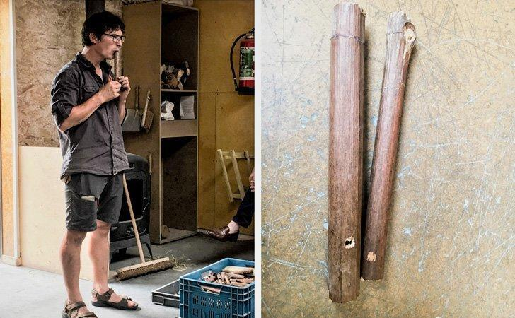 The archaeologist helped us create our personal flute