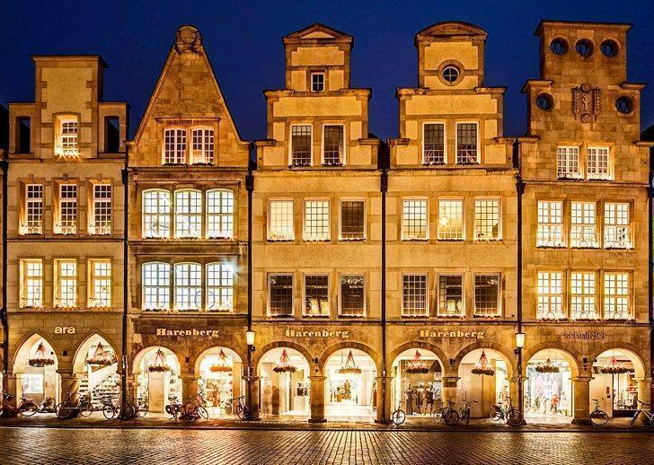 The beautifully restored Prinzipalmarkt in Munster, Germany