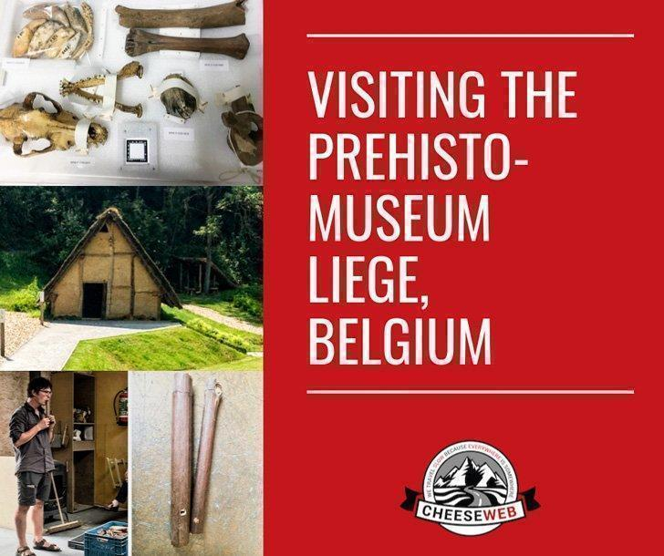Visiting the Prehistomuseum in Liege, Belgium