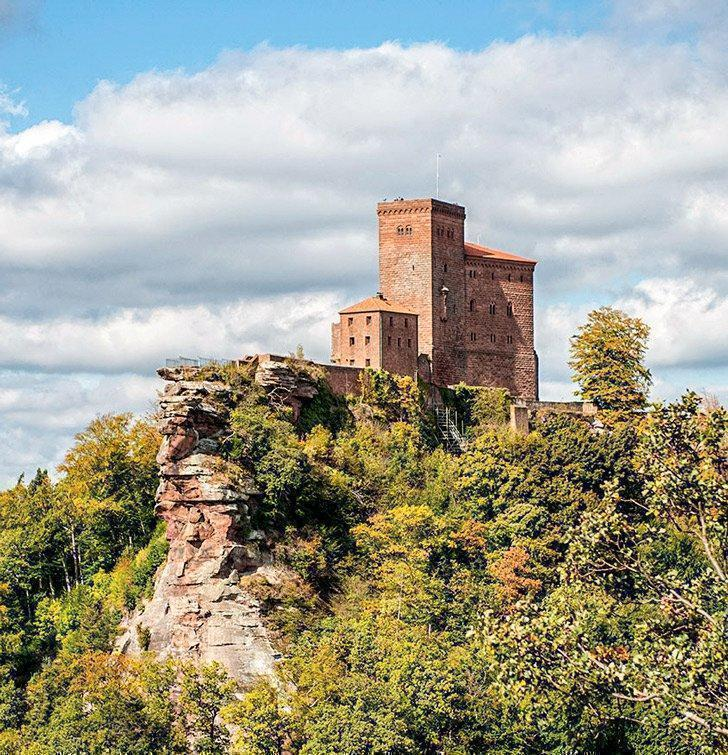 Trifels Castle is one of the tourist attractions near Ramstein Germany