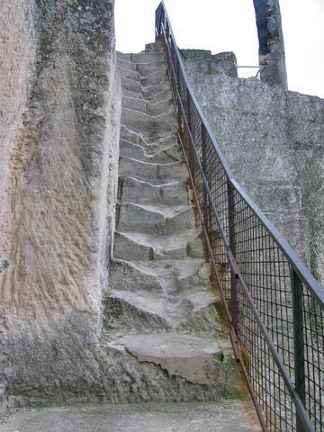 Scary stairway to the top!