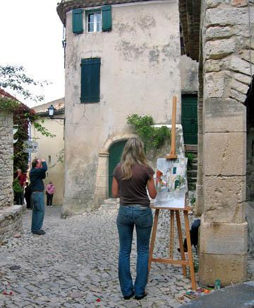 Painter in Seguret.