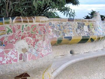 Detail of the Wavy Bench
