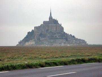 Mont-St.-Michel rising out of the bay
