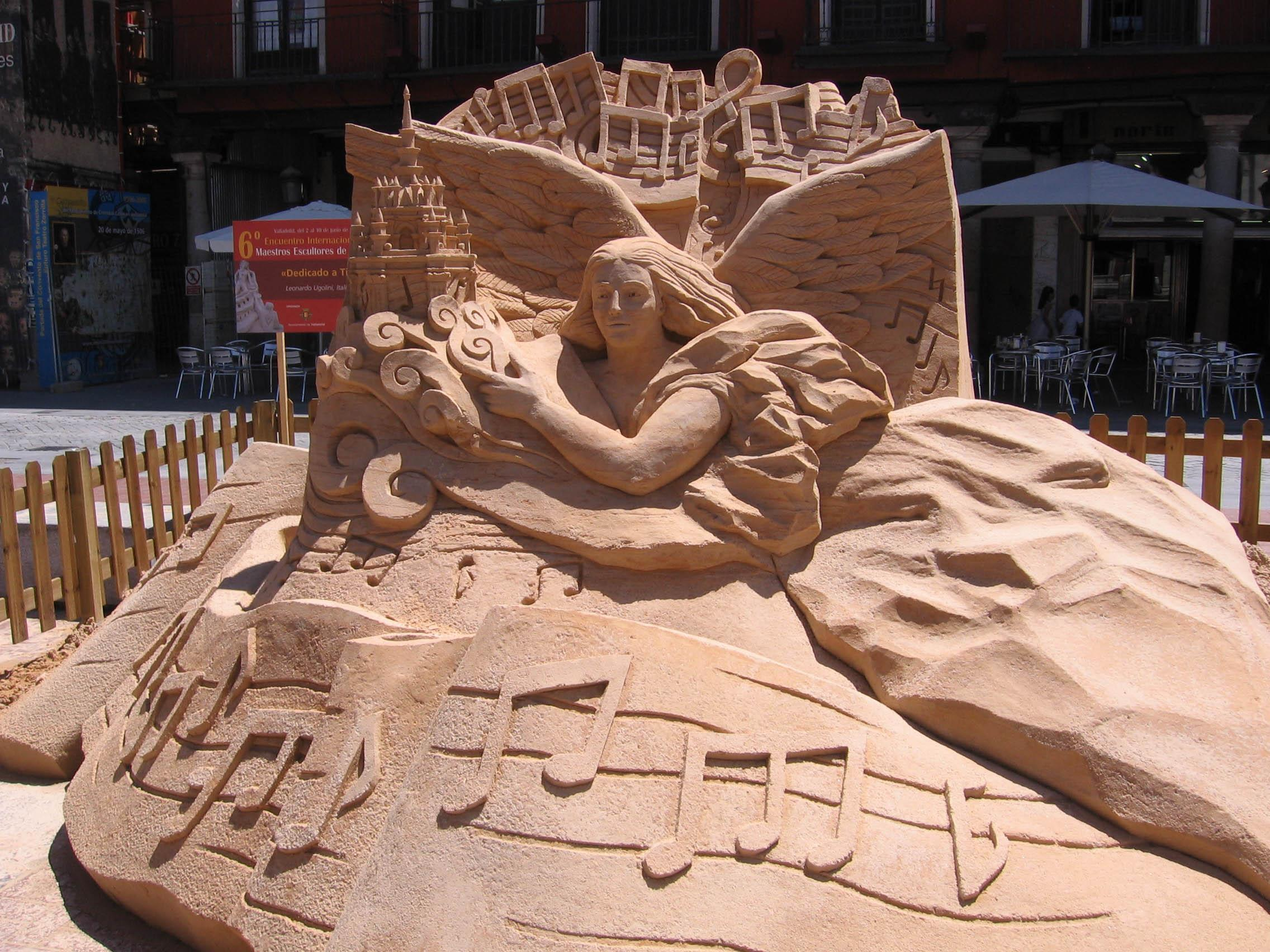 The sand sculpture winner.