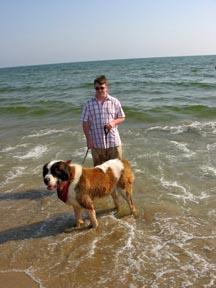 Andrew and Caesar in the Mediterranean.