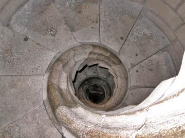 These are the stairs I had to descend in the Sagrada.
