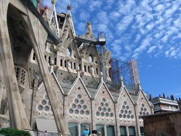 The newest facade of the Sagrada Familia